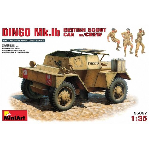 Min35067 - Miniart 1:35 - Dingo Mk 1b British Armoured Car W/ Crew