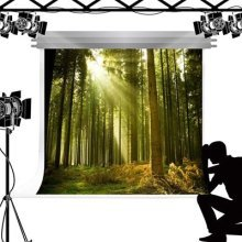 Kate Photo Backdrop Green Forest Natural Jungle Forest Scenery Background for Photography Magic Fairy Tale Studio Fond 10x6.5ft(3x2m)