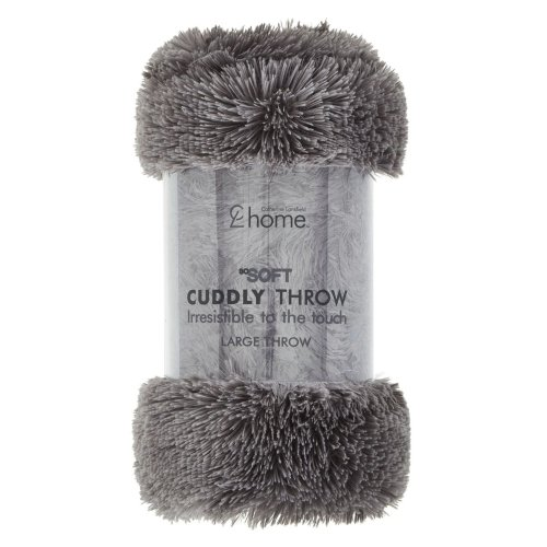 Catherine Lansfield Cuddly Throw Charcoal, 150x200cm