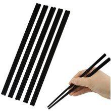 12 x Reusable Melamine Chopsticks Black Matt Sushi Chinese 24cm Oriental Food