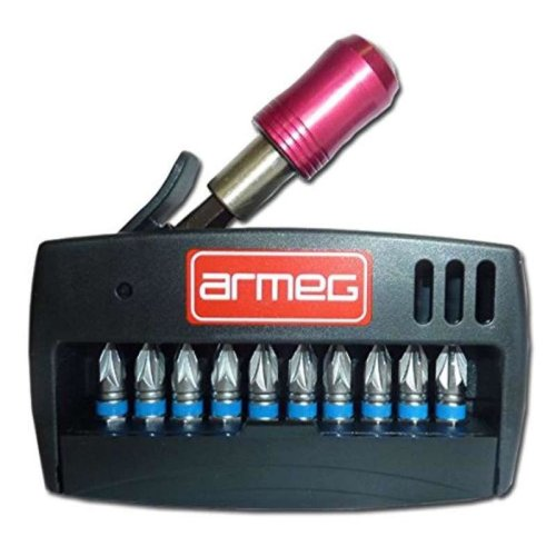 Armeg SDBSET11PZ2 PZ2 Screwdriver Bit Set (11-Piece)