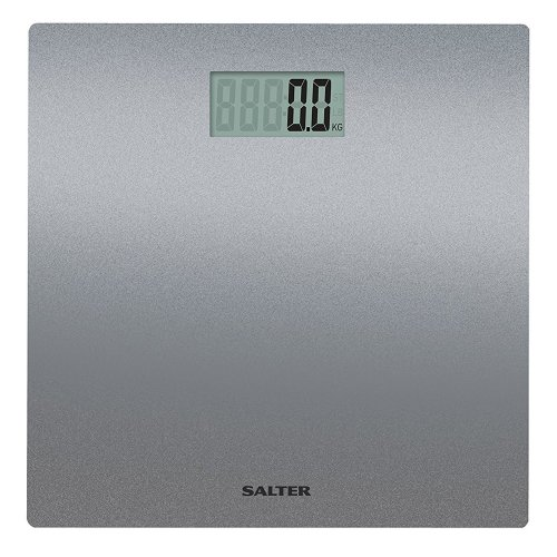 Salter Electronic Digital Bathroom Scales, Easy to Read Display - Silver Glitter