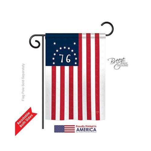 Breeze Decor 58233 Historic Bennington 2-Sided Impression Garden Flag - 13 x 18.5 in.