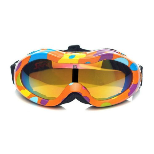 Cute Snowboard Goggles for Kid Ski Goggles Orange