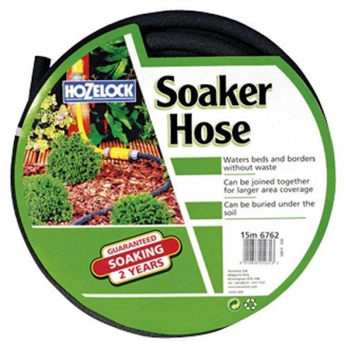 15m x 12.5mm Garden Soaker Hose -  hose soaker hozelock 15 porous 15m 125 mm metre 125mm 6762 12in standard diameter