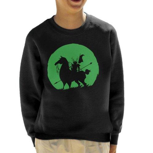 Shadow Warrior Green Silhouette Samurai Jack Kid's Sweatshirt