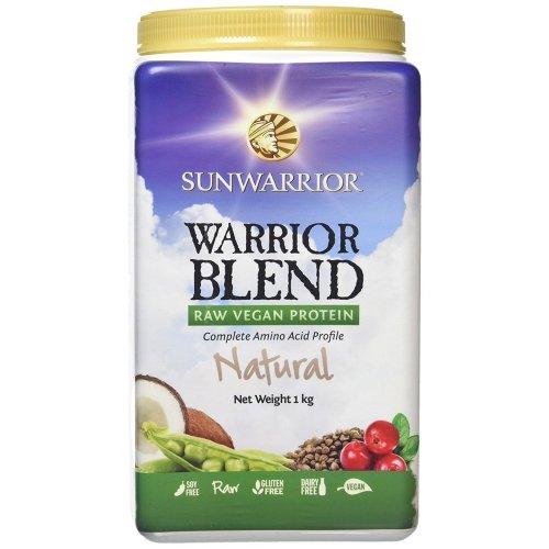 Sunwarrior Warrior Blend Organic Raw Vegan Protein Powder, Natural, 1kg