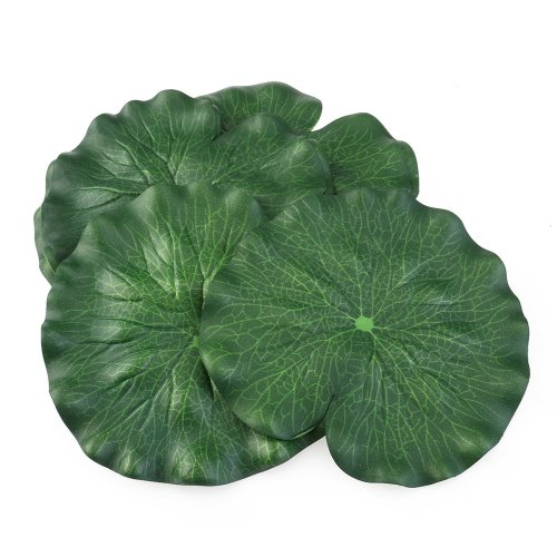 18CM Artificial Floating Foam Lotus Leaves Artificial Foliage Pond Decoration Pack of 10
