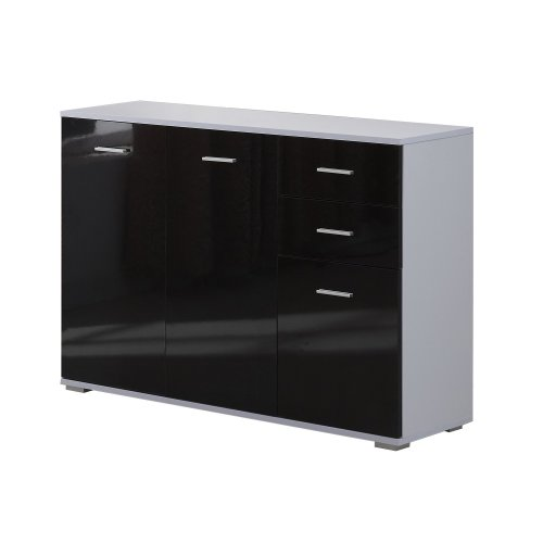 Homcom  Black High Gloss Fronted Sideboard