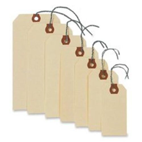 Consumer Products  Shipping Tags W-Wire- No 1- 2-.75in.x1-.38in.- Manila