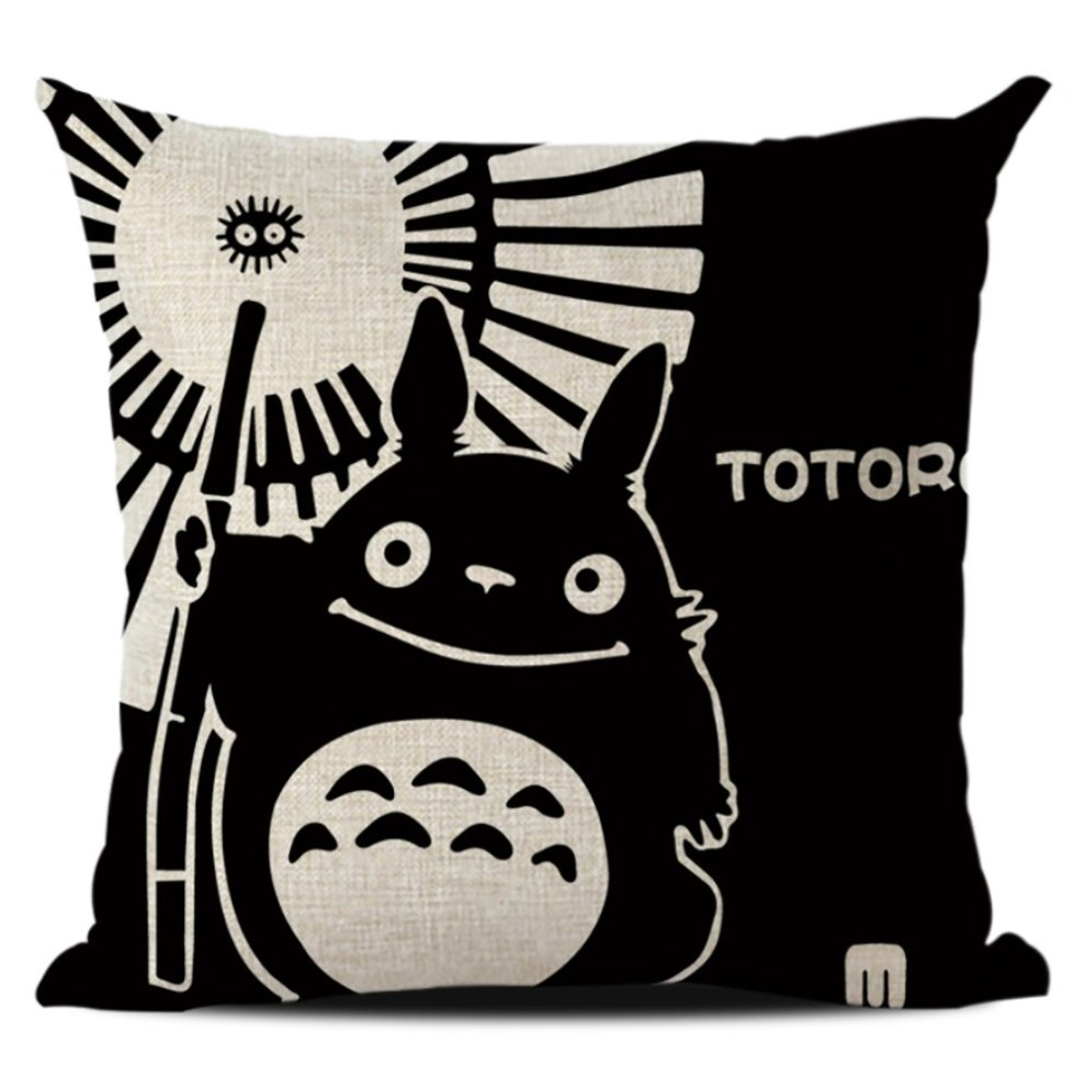 Black Cat Cushion Cover Decorative Throw Pillow Covers Linen 45*45 Cm Pillowcase Home Decor Pillowcase Sofa Chair Kid Bedroom Cushion Cover Home Textile