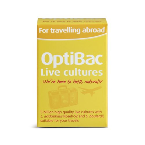 OptiBac For Travelling Abroad - 5 Billion CFU Multi-Strain Formula - 20 Capsules