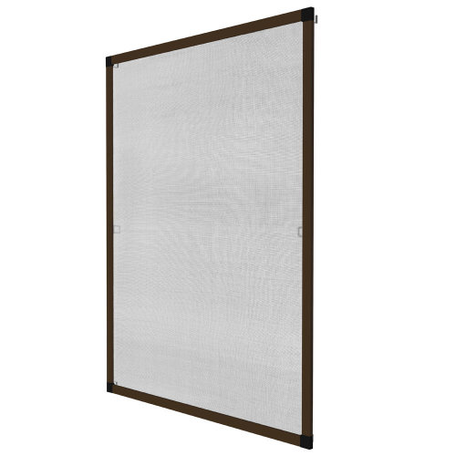 Fly screen for window frame 130 x 150 cm brown