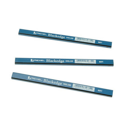 Rexel REX34328 Blackedge Carpenters Pencils Soft Grade Blue Pack of 12
