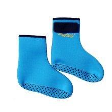 Kids Water Socks 3MM Fin Socks Anti-scratch Beach Safety Socks BLUE, US 9.5-12.5