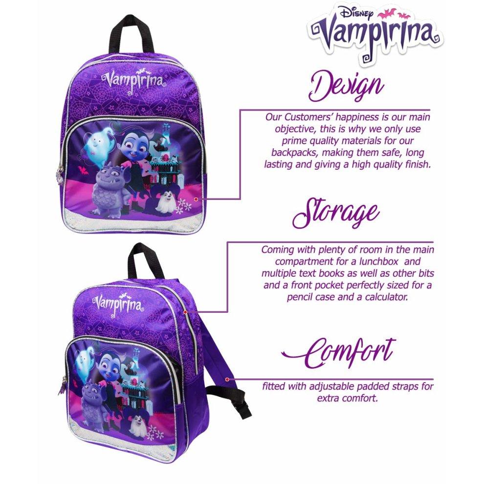 ... Vampirina Backpack School Bag for Girl Sparkle Glitter Backpacks  Toddler Kids Bags Girls Bagpack - 2 ... f09f800b16a2e