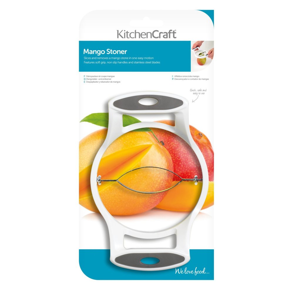 KitchenCraft Mango Slicer / Pitter, 18 x 12 cm (7
