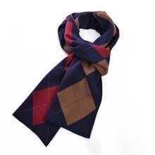 Mens Winter Cashmere Knitted Warm Thicken Scarves