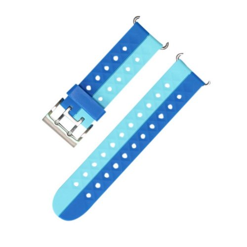 Quick Release Silicone Watch Band Soft Rubber Cute Watch Band Lake Blue Sky Blue