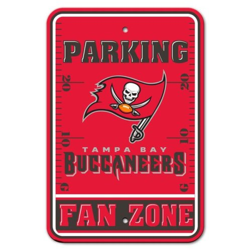 12 x 18 in. Tampa Bay Buccaneers Plastic Fan Zone Parking Style Sign