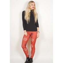 Rockoff Trade Women's Deathbat Crest Leggings, Red, Medium-large -  avenged sevenfold death bat crest red ladies womens girls fashion leggings