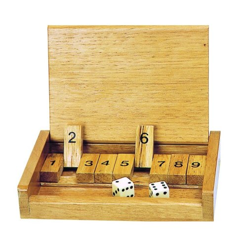 Wooden Travel Shut The Box