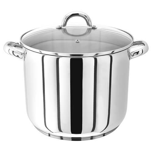 Judge 28cm Stainless Steel Stockpot With Vented Glass Lid, 13 Litre