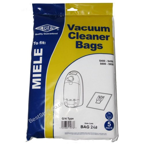 Pack of 5 Bags with Filters for Miele Dog and Cat Vac
