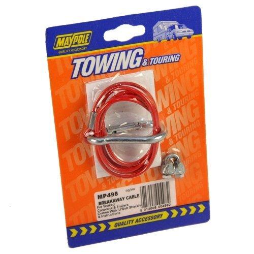 Towing Security Break-away Cable - Breakaway Maypole 498 Ubolt Shackle -  cable breakaway maypole 498 ubolt shackle