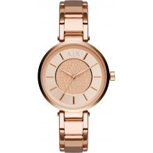 Armani Exchange Watch AX5317 Watch Steel Pink Gold Woman