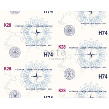 fabric sailboat numbers navy blue - 186407