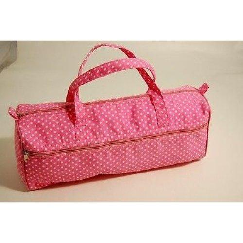 Large Pink Polka Dot Knitting / Crochet / Craft Bag