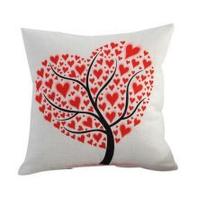 Happy Valentine's Day Gifts For Lovers Sofa Home Car Use Heart Tree Pattern HQ18