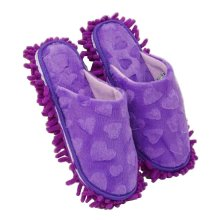 Useful Mop Slippers Floor Cleaning Slippers Mopping Shoes Blue Stripe