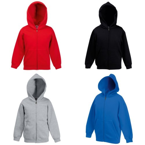 Fruit Of The Loom Childrens/Kids Unisex Hooded Sweatshirt Jacket