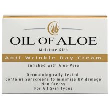 6 x Oil Of Aloe Moisture Rich Anti Wrinkle Day Cream With Aloe Vera 6 x 50ml