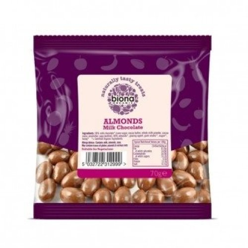 Biona - Milk Chocolate Covered Almonds