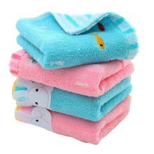 Pack of 4 Useful Mini Towels for Baby Soft Cotton Towels 50*25 CM [C]