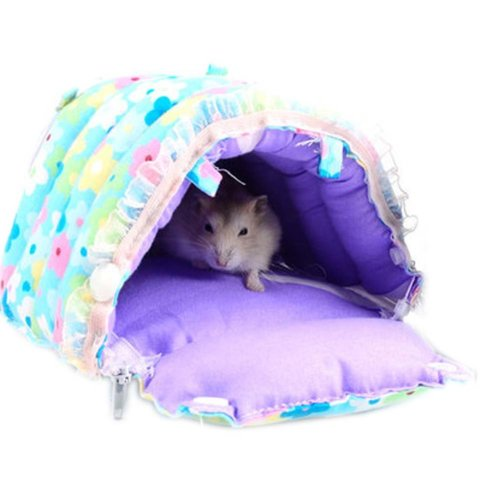 Warm Soft Cartoon Pet Bed for Small Furry Animals Best Home Pet Supplies