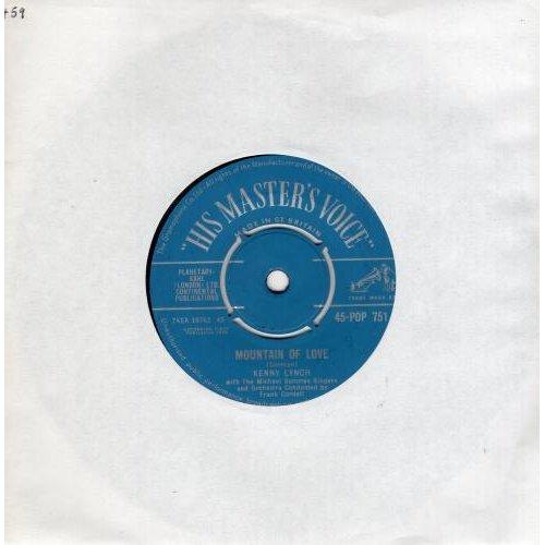 "Mountain Of Love 7"" (UK 1960) , Kenny Lynch"