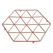 Vertex Copper Trivet | Copper Plated Geometric Trivet