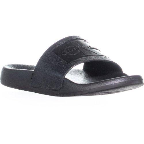 Calvin Klein Christie Jelly Logo Slide Sandals, Black, 7 UK