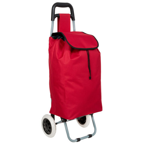 Shopping trolley folding red