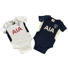 Official Tottenham Hotspur Baby Core Kit 2 Pack Bodysuits - 2017/18 Season