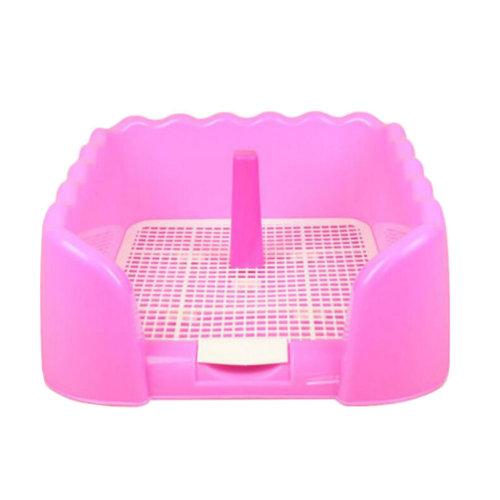 Dog Toilet Puppy Dog Pet Potty Patch Training Pad Pet Supplies 43 X 43 CM Pink