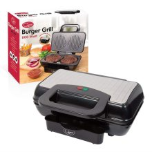 Quest Twin Home Made Burger Grill Machine 800 W Kitchen Cooking Grill Food