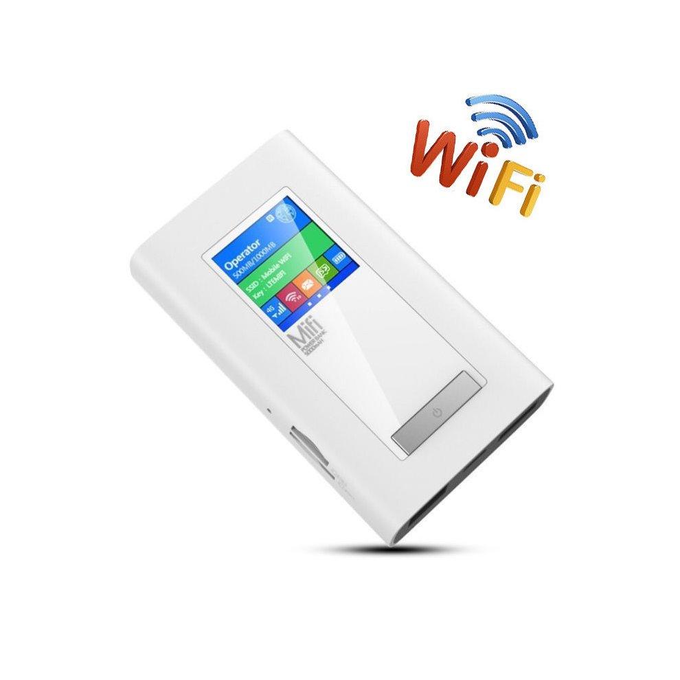 4G PowerBank LTE Wifi Router w/ Duel 2 SIM Card Cards Slot RJ45 LAN