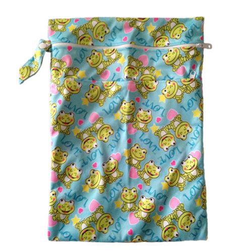 "Frog Wet Bags Waterproof Diaper Bag Multi-function Nappy Bag -14""*11"" Green"