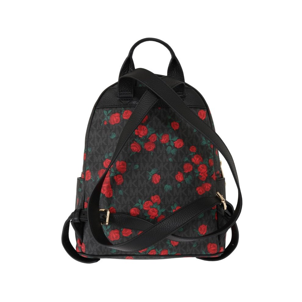 b2fd9ef8b77d ... Michael Kors Handbags Black Red ABBEY Floral Backpack - 2 ...