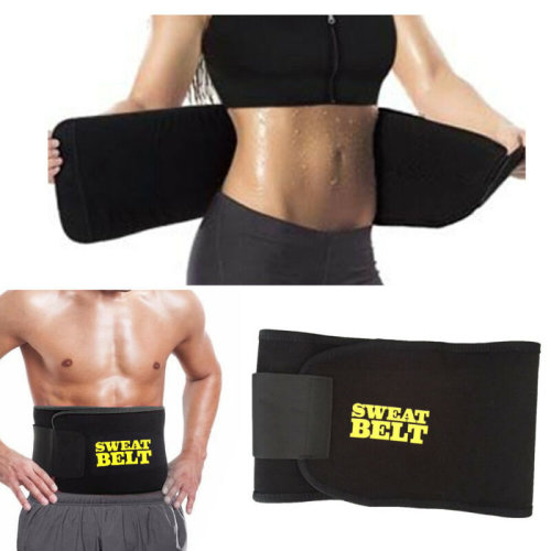 Men Women tummy Waist Cincher Sweat Belt Trainer Body Shaper Slim UK